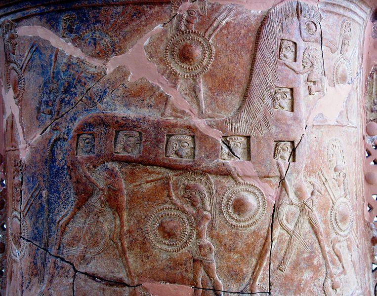 paard van troje op mykonos vaas, 650 BCE